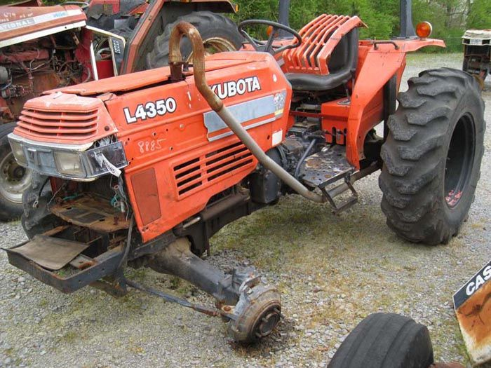 This tractor has been dismantled for Kubota 4350 tractor parts.  #kubota #tractor #parts