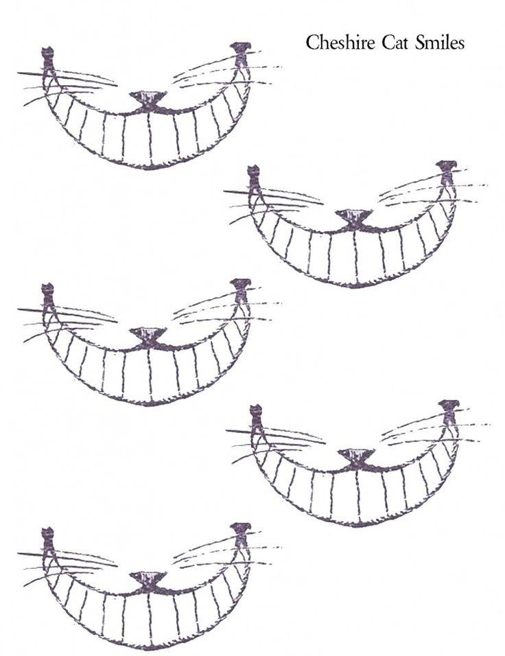 Cheshire Cat Smiles #printables #alice_in_wonderland #cheshire_cat