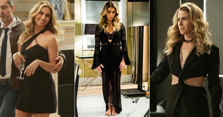 Sexy e antenada no mundo da moda, a vilã das 9 arrasa em suas combinações de preto