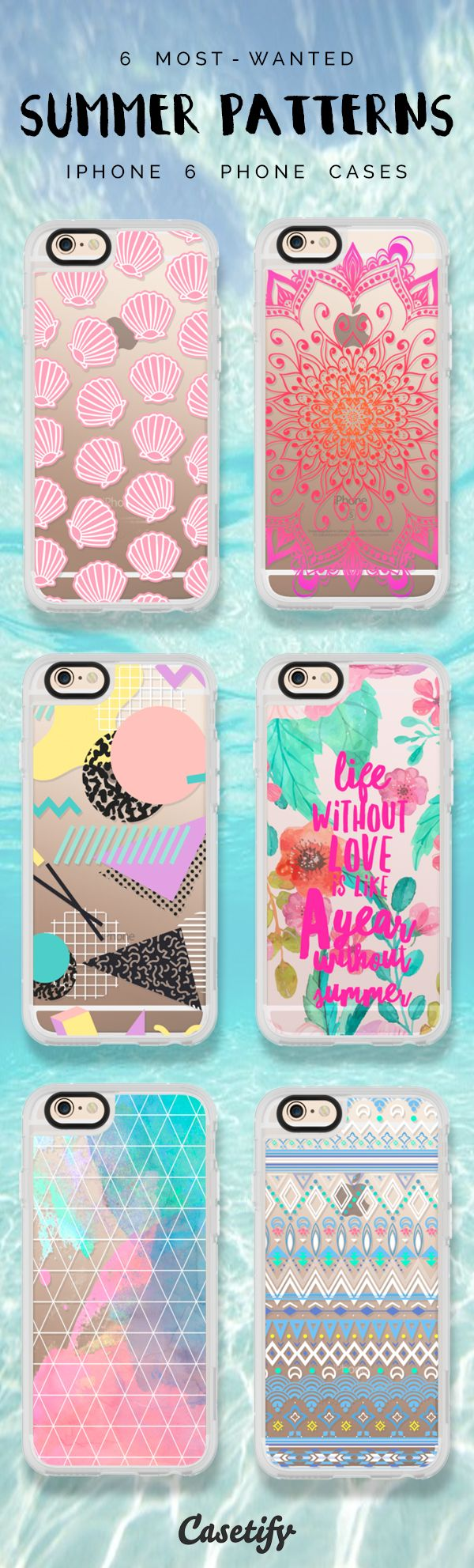 Most favourite Summer Patterns iPhone 6 protective phone case designs | Click through to see more iPhone phone case idea. Summer is upon us! >>> https://www.casetify.com/artworks/dLcFLTe4nw | @casetify  https://www.casetify.com/artworks/dLcFLTe4nw