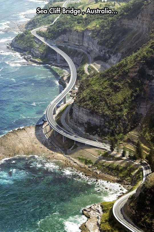 Very Beautiful Ride Sea Cliff Bridge, Australia  #City_Edge_Apartment_Hotels   #Cityedge    http://www.cityedge.com.au