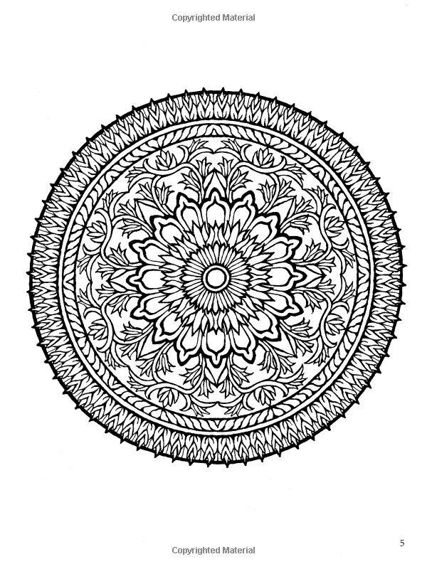 Mystical Mandala Coloring Book Dover Al Hutchinson 8118907