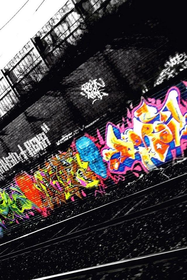 Graffiti Train Track.