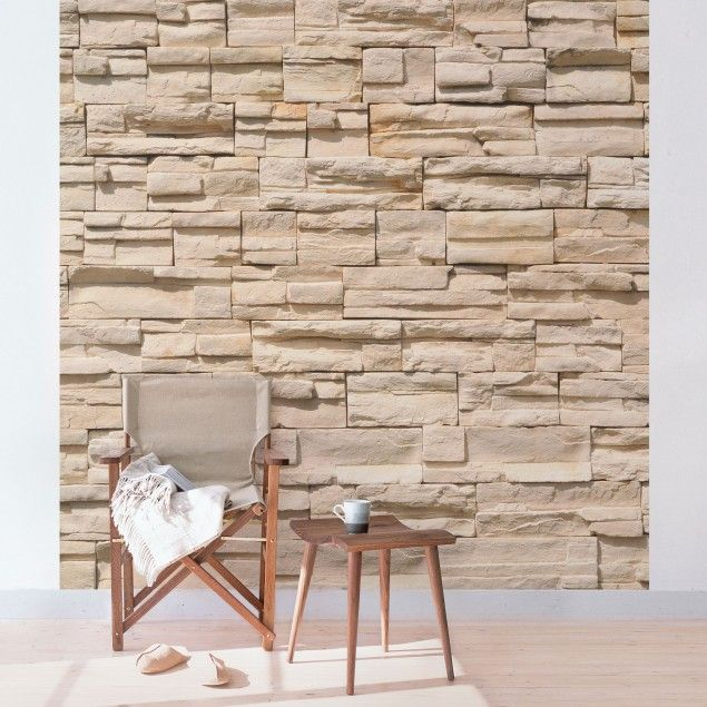 steinwand tapete vliestapete asian stonewall fototapete quadrat vliestapete tapete wanddeko