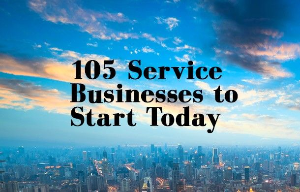 Here, we provide some inspiration for aspiring service providers-from adventure-tour leaders to window washers. With 105 ideas to choose from, you have no excuse not to get started today with your own service business.