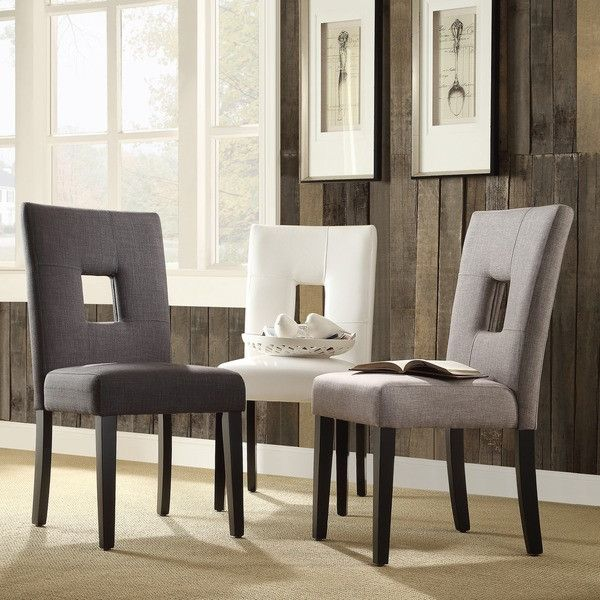 tribecca home mendoza keyhole back dining chairs set of 2