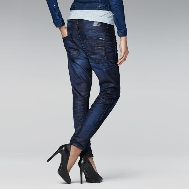 G-Star RAW - Arc 3d Tapered - Women - Jeans I would have adventure boots instead of the heels
