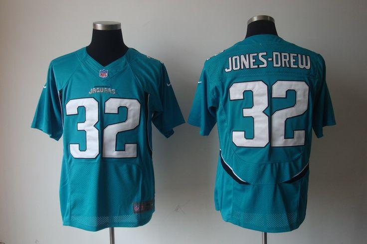 $25.00 Nike NFL Jerseys Jacksonville Jaguars Jones Drew #32 Cyan