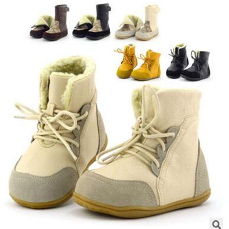 Barato Slip resistente couro genuíno criança do sexo feminino botas de neve criança botas de criança do sexo masculino médio pé de algodão acolchoado sapatos sola macia do bebê, Compro Qualidade Botas diretamente de fornecedores da China:   tabela de tamanho            queridos amigos,   quando você compra os sapatos das crianças,   você deve de acordo com