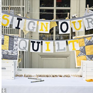Quilt Guest Book = awesome idea!