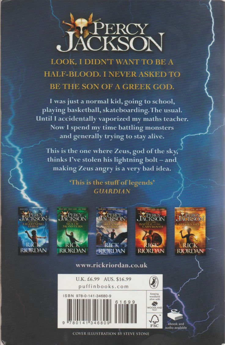 percy jackson and the olympians the lightning thief book report He intercepts zeus's master bolt from luke in the lightning thief and gives percy a backpack  her fictional persona in the percy jackson book series is obsessed .