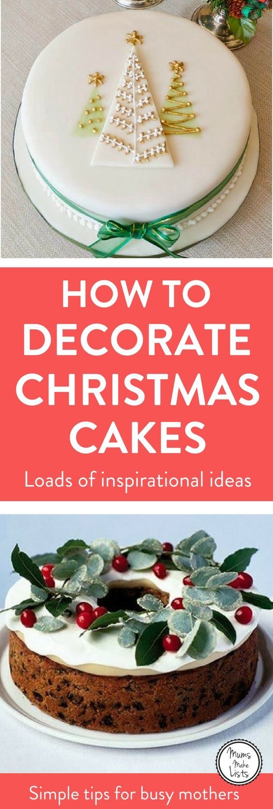 Christmas cake decorations - ideas for decorating Christmas cakes, from simple ideas to totally awesome, beautiful creations, both traditional and modern #Christmas2017 #Christmas #ChristmasCake #ChristmasCakes #ChristmasCakeDecorationIdeas #ChristmasCakeIdeas #ChristmasCake2017 #ChristmasFood