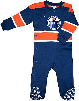 Mighty Mac Edmonton Oilers Infant Face Off Sleeper - Shop.Canada.NHL.com