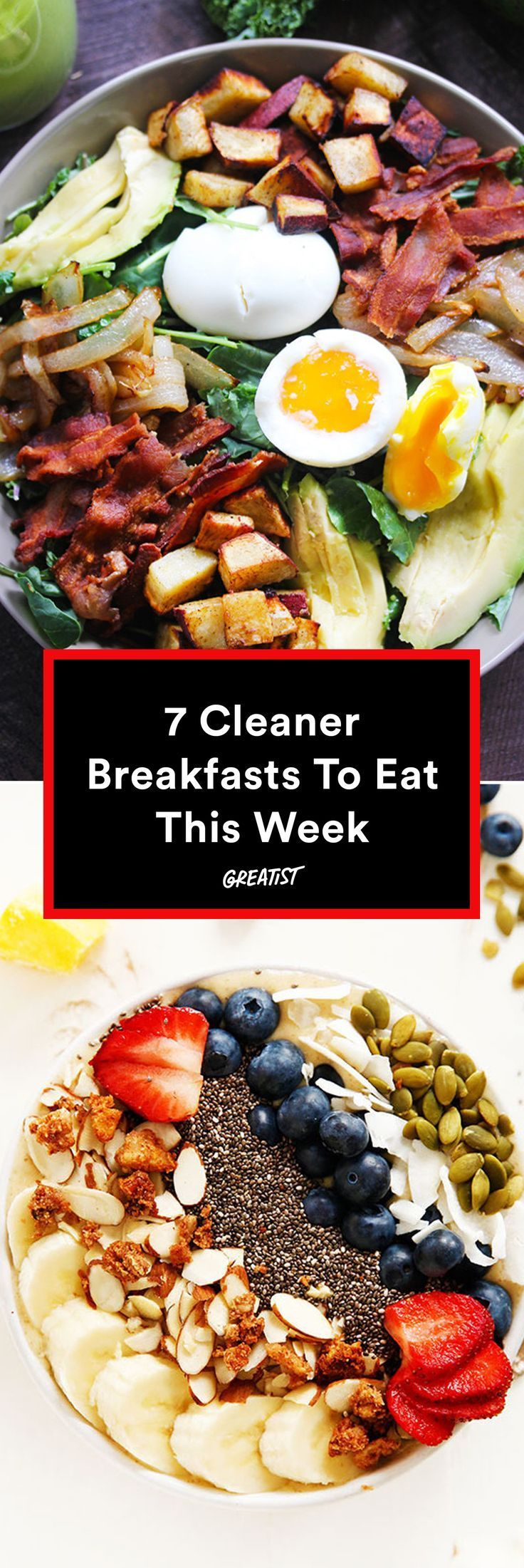Your morning just got way better. #healthy #breakfast #recipes http://greatist.com/eat/clean-breakfast-recipes-that-taste-delicious