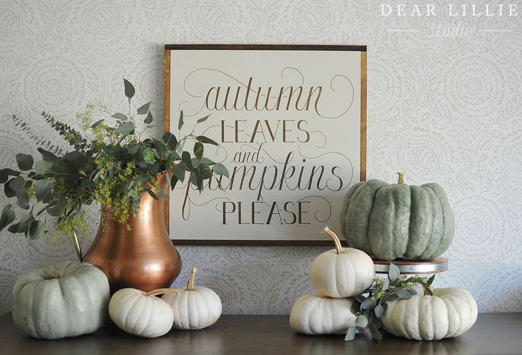 Be sure to check out our brand new Autumn Leaves and Pumpkins Please handmade oversized wood sign! Our Autumn Leaves shirt is also available in our shop!