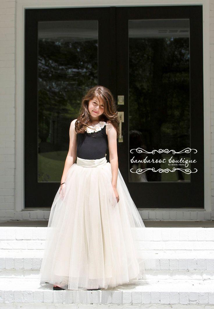tutu skirt for girls, flower girl dress, Soft Tulle Champagne tutu, Bridal, Wedding Flower Girls, CUSTOM sewn tutus by BambaroosBoutique on Etsy https://www.etsy.com/listing/196343581/tutu-skirt-for-girls-flower-girl-dress