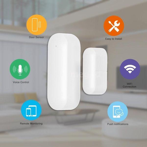 Wireless Door Window Sensor Wifi Smart Door Intrusion Detector Home Security Alarm Works With Amazon Alexa Google Assistant Ifttt Or Rokid Wish Home Security Alarm Home Security Security Alarm