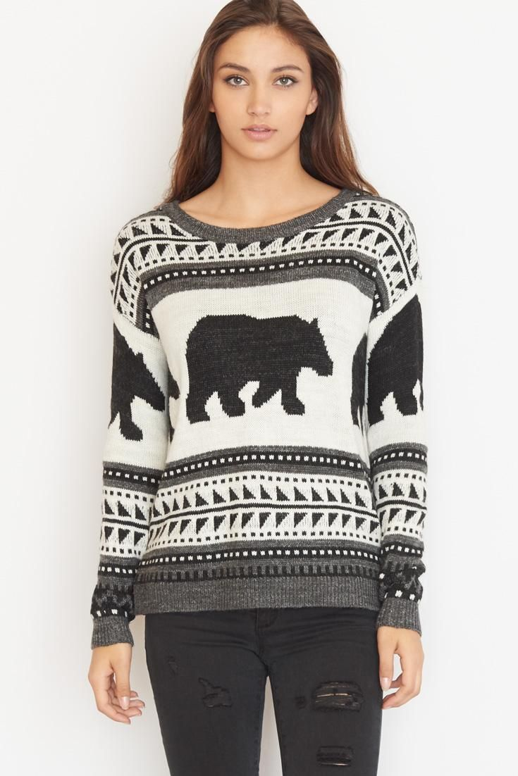 Polar Bear Jacquard Sweater.