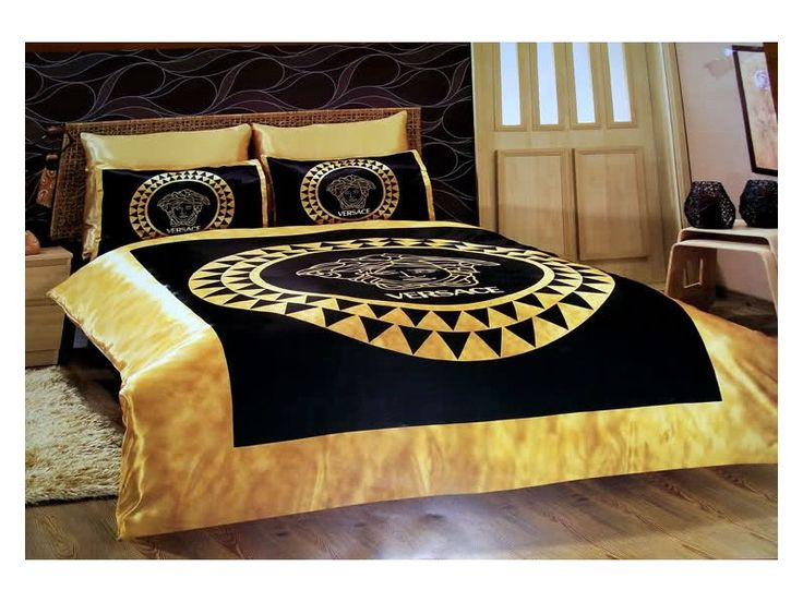 Versace Bedding Set Satin Medusa Duvet Set Bedroom Sets Pinterest Black Gold Satin