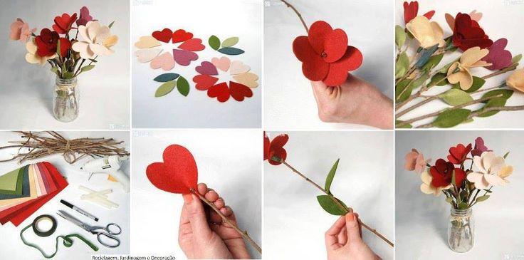 Flor de feltro!