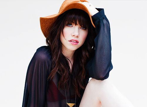 Pop singer Carly Rae Jepsen, a frequent hatter.