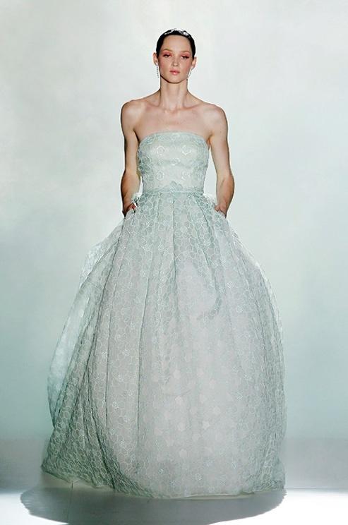 Mint wedding dress Keywords:  www.pinterest.com/jevelwedding/