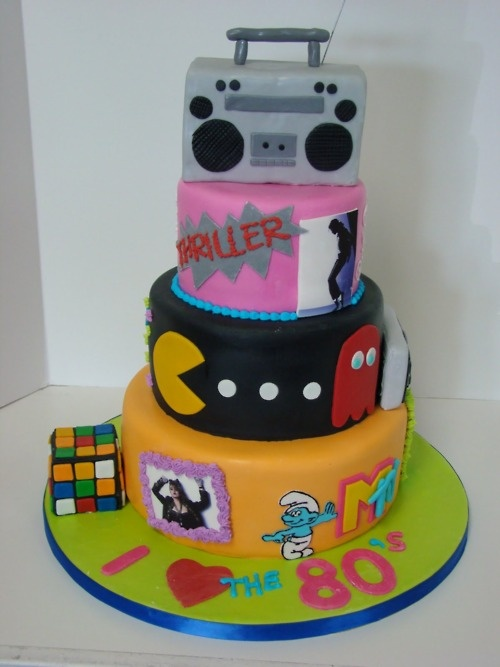80's Cake! Awesome!  You need to make one Tracey!