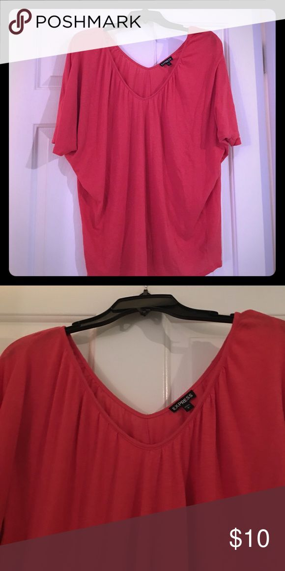 Express Double V Neck Batwing T Shirt Great condition! Worn a handful of times Express Tops Tees - Short Sleeve