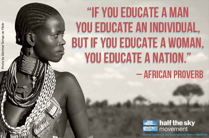 Educate woman