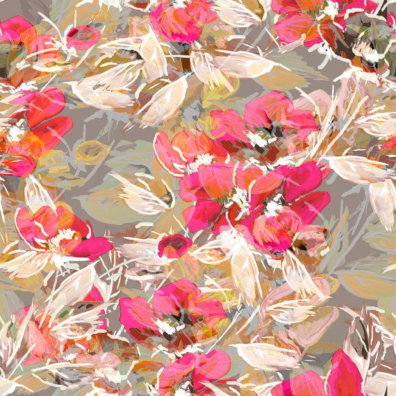 Floral Fabric  Rockabilly Rose Cocktail Dress Fabric By