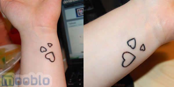 Este modelo de coração é bastante indicado para quem procura por tatuagens delicadas.