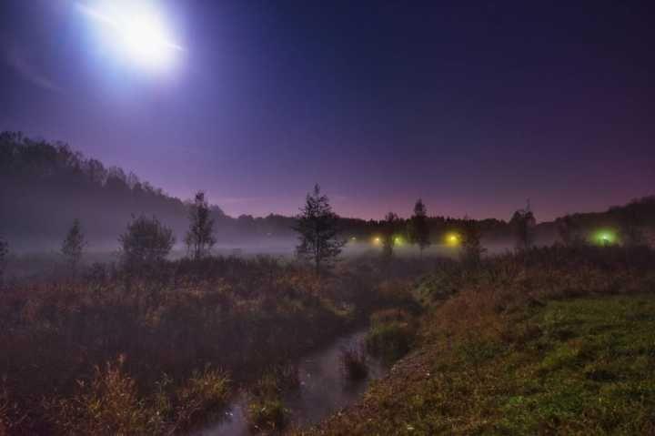 A Moonlit Night in Kymlinge — at Kymlinge, Stockholm, Sweden