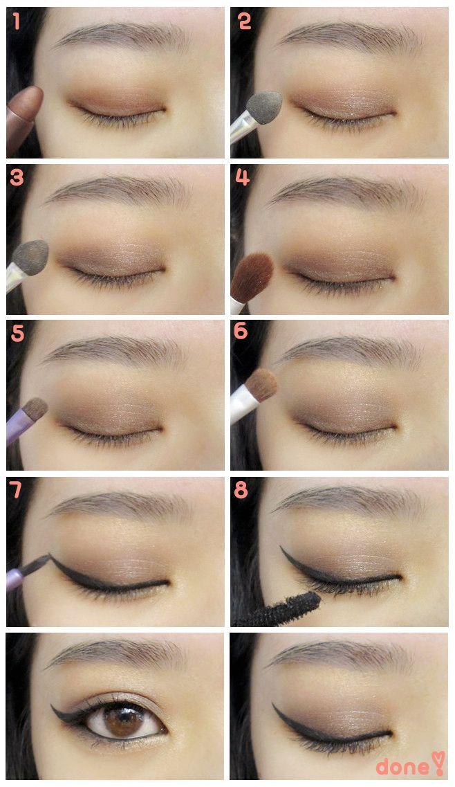 How To Do Makeup On Korean Eyes Cartoonview