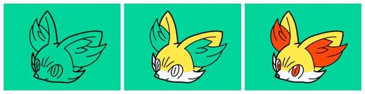 Colouring #fennekin in #pokemonart academy for Nintendo 3DS. More info on all the spin off #Pokemon games @ http://www.pokemondungeon.com/games/spin-off-pokemon-games-on-handheld