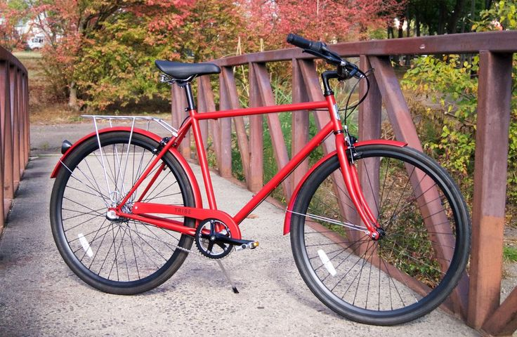 Tribe Bicycle Co Opafeits Satin Red Tribe Bicycle Co