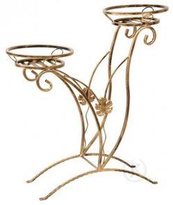 DecoArt24.pl Piękny i elegancki kwietnik metalowy mieszczący dwie doniczki z delikatnymi zdobieniami.To idealny element dekoracyjny zarówno każdego wnętrza domu jak i ogrodu, czy balkonu. Kwietnik jest doskonałym pomysłem na prezent. Stojak na kwiaty  został wykonany w całości ze stali, pomalowany proszkowo co zapewnia długoletnią trwałość. Dostępny w kilku wersjach kolorystycznych #kwietnik #wyposażenie #ogród #dekoracje #art #metal #metalwork #dom #wystroj #metaloplastyka #DecoArt24.pl
