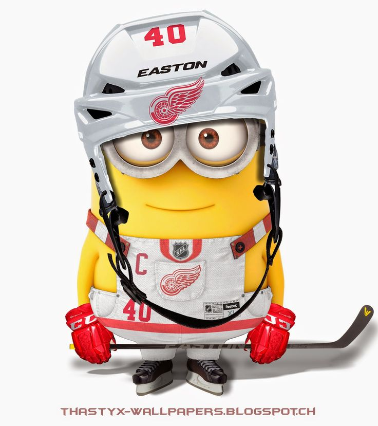 ThaStyX Wallpapers: Detroit Red Wings Minion Avatar