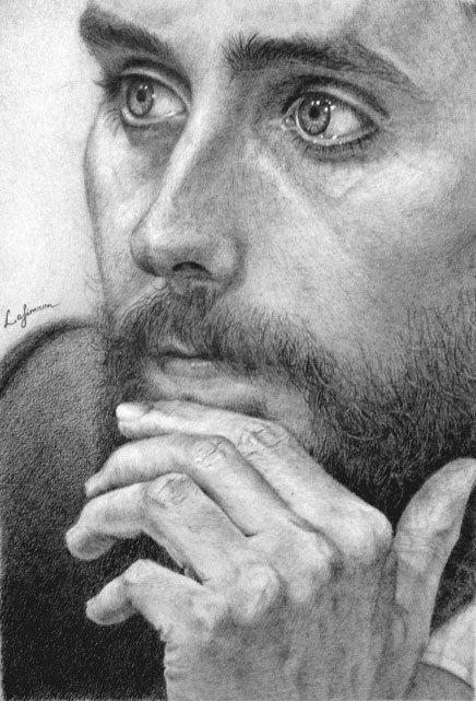 Original pencil Portrait of Jared Leto