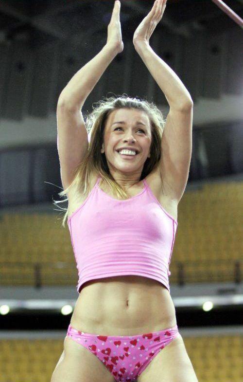 Has Top women pole vaulter lie