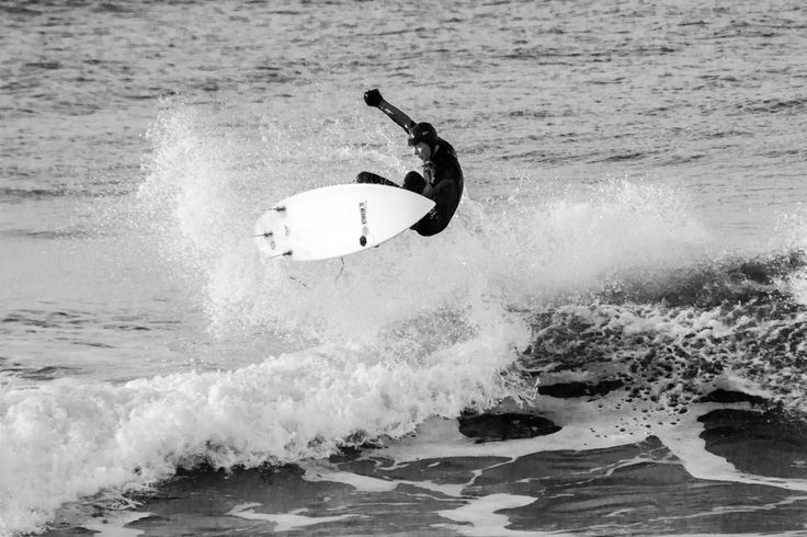Maiden in Cornwall - Blog Post: Surf Sunday #1 - Surfer catching air