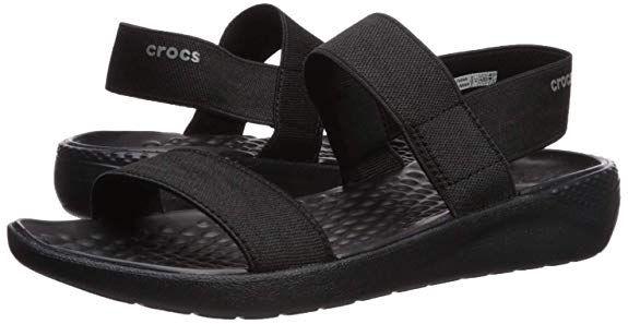 Amazon Com Crocs Women S Literide Sandal Casual Sandal With Extraordinary Comfort Technology Shoes Crocs Womens Sandals Black Shoes Women