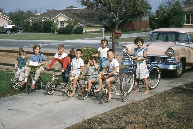 1958 West Covina. California Kids having fun outdoors, the way it should be.