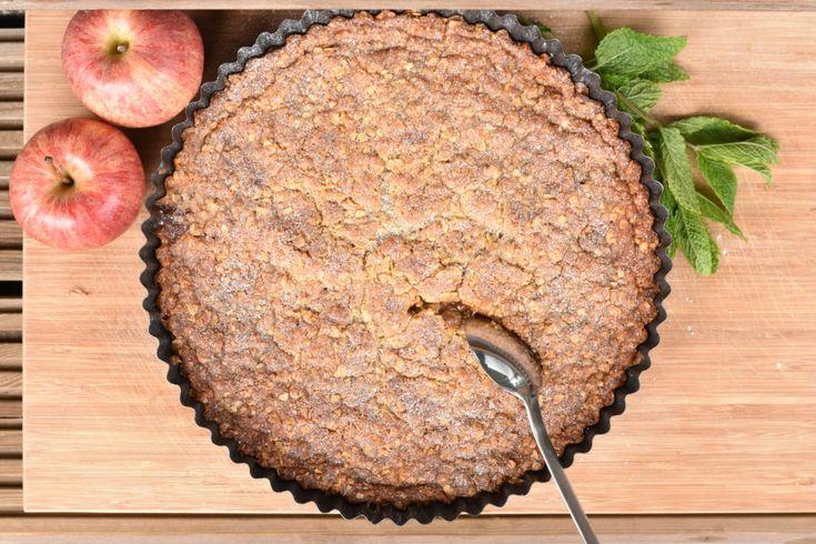 Knäckig äppelpaj med daim | Hannas bageri