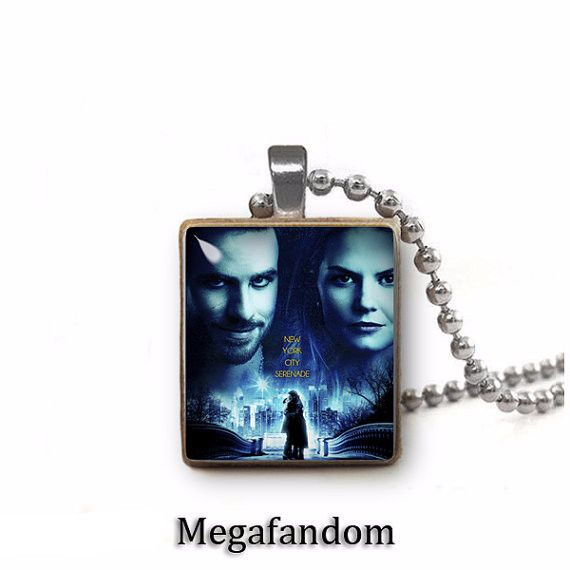 Once Upon a Time Captain Hook & Emma Scrabble Tile Pendant with ball chain Fandom Jewelry