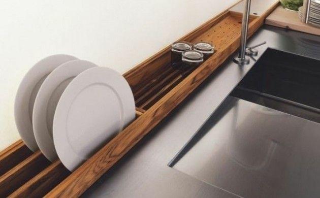 küchen planen trends küchen aktuell modernes zubehör teller trockner