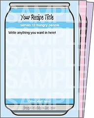Seems like a great place for free printables- Fun recipe cards to type on, print and add into pockets!!!!