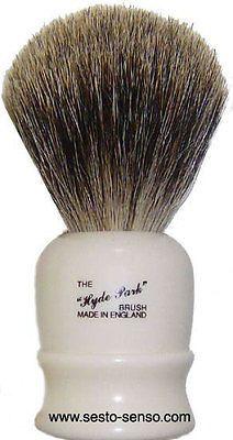 Shaving Brushes and Mugs: Vulfix Pure Badger Shaving Brush, London Series Hyde Park 514B Imitation Ivory BUY IT NOW ONLY: $42.95