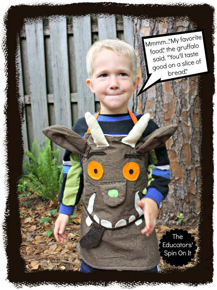 Make this super cute Gruffalo inspired dress up apron for Halloween or pretend play and learning. When you interact with a story through re-telling, children develop stronger vocabulary and understanding of the characters and plot – strengthening their reading! Learn how to make this Gruffalo Dress up Apron to surprise your favorite Gruffalo fan! Aha …