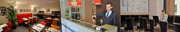 Hotel Eiffel Saint Charles : breakfast room and bar