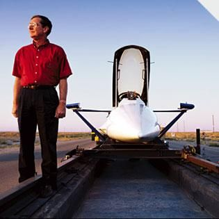 Holloman AFB High speed test track | He Feeds Uncle Sam's Need for Speed | Popular Science
